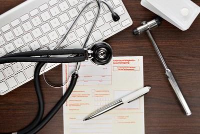 A gout doctors desk