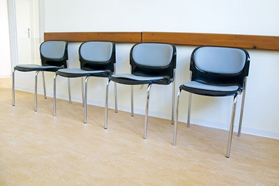 A urinary incontinence waiting room