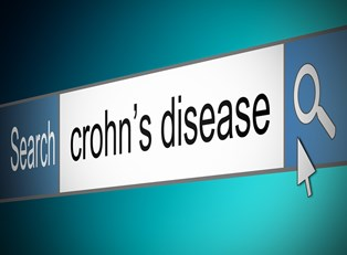 a patient searching the Internet for information on diagnosing Crohn's disease