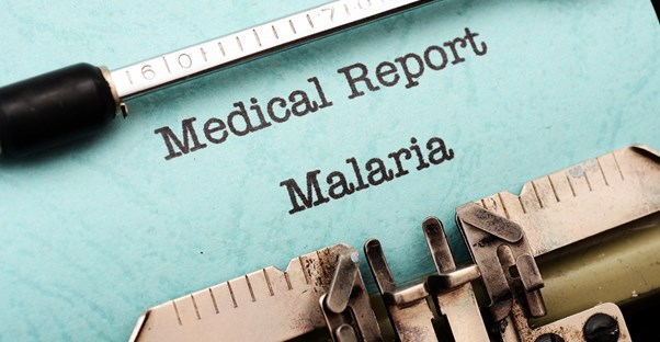 a medical report that discusses malaria symptoms