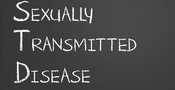 the words sexually transmitted disease on a chalkboard