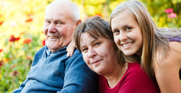a man who has discussed his alzheimer's diagnosis with his family