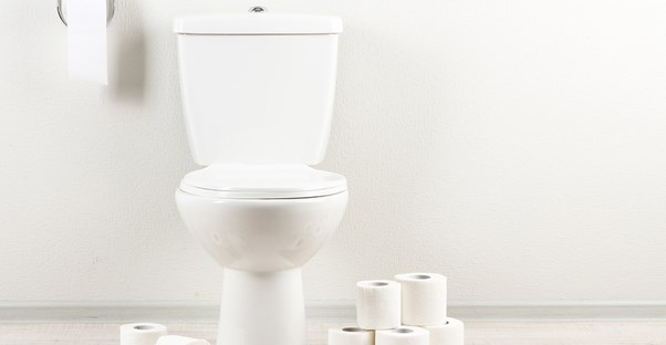 someone with diarrhea symptoms may visit the toilet often