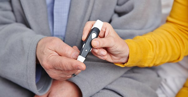 a man who is following diabetes management tips