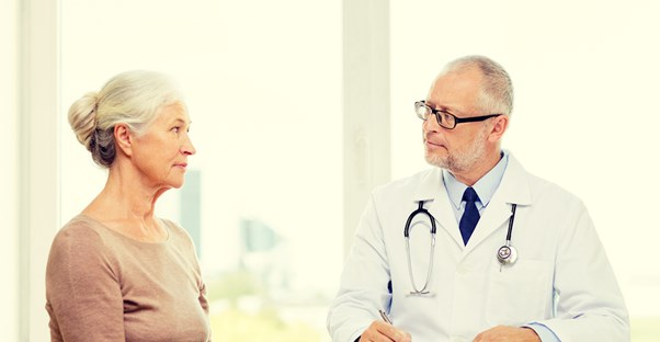 A patient and doctor discuss the gravity of dvt