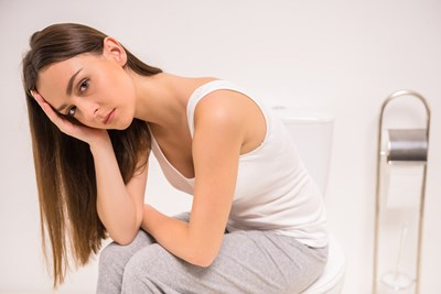 A woman deals with frequent urination