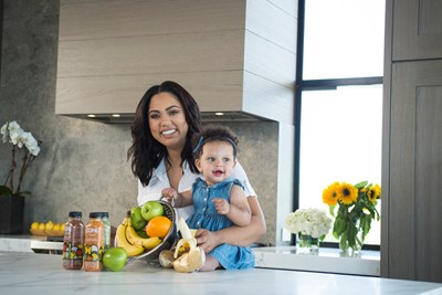 ayesha curry with her daughter talking about healthy eating