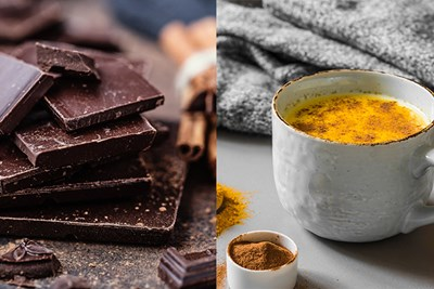 chocolate and turmeric