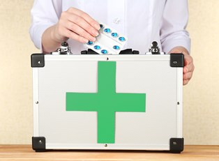 a first aid kit that would be used in the office
