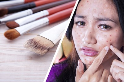 A woman's beauty routine harms her health